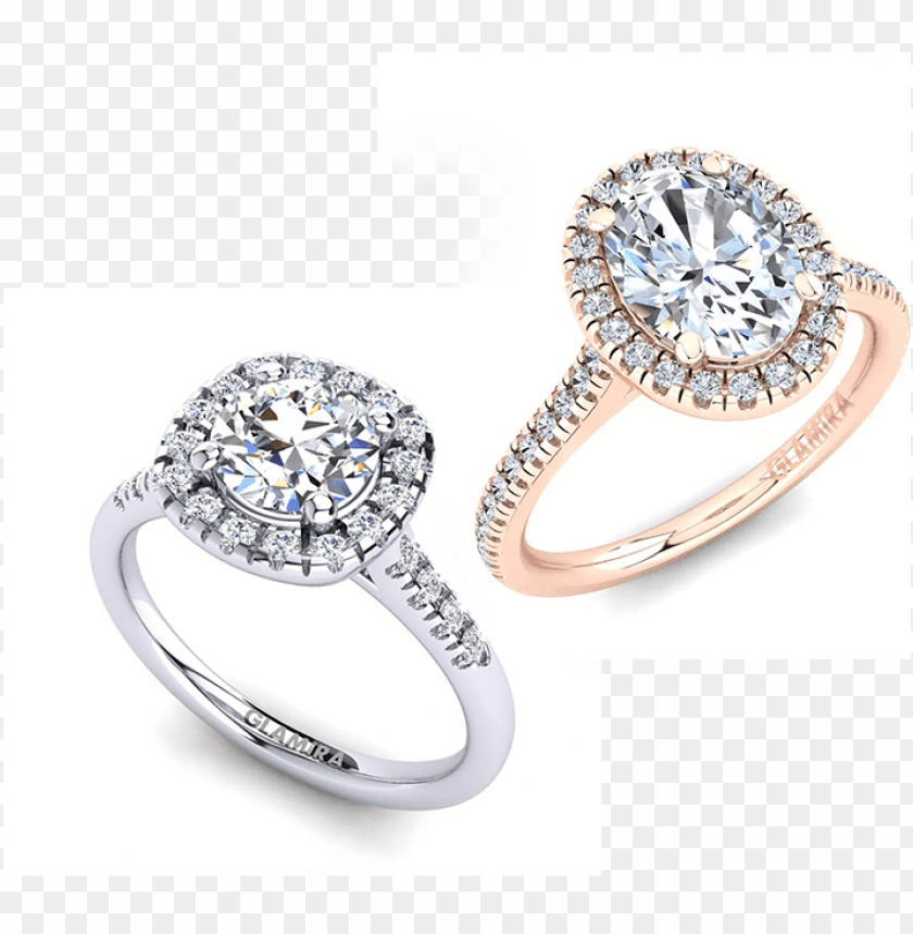 free PNG diamond engagement rings - rings zirconia 585 white gold glamira ring anni 1.09 PNG image with transparent background PNG images transparent