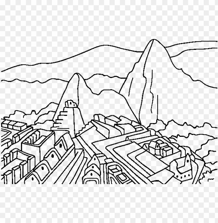 free PNG dibujo de machu picchu para colorear - machu picchu para dibujar PNG image with transparent background PNG images transparent