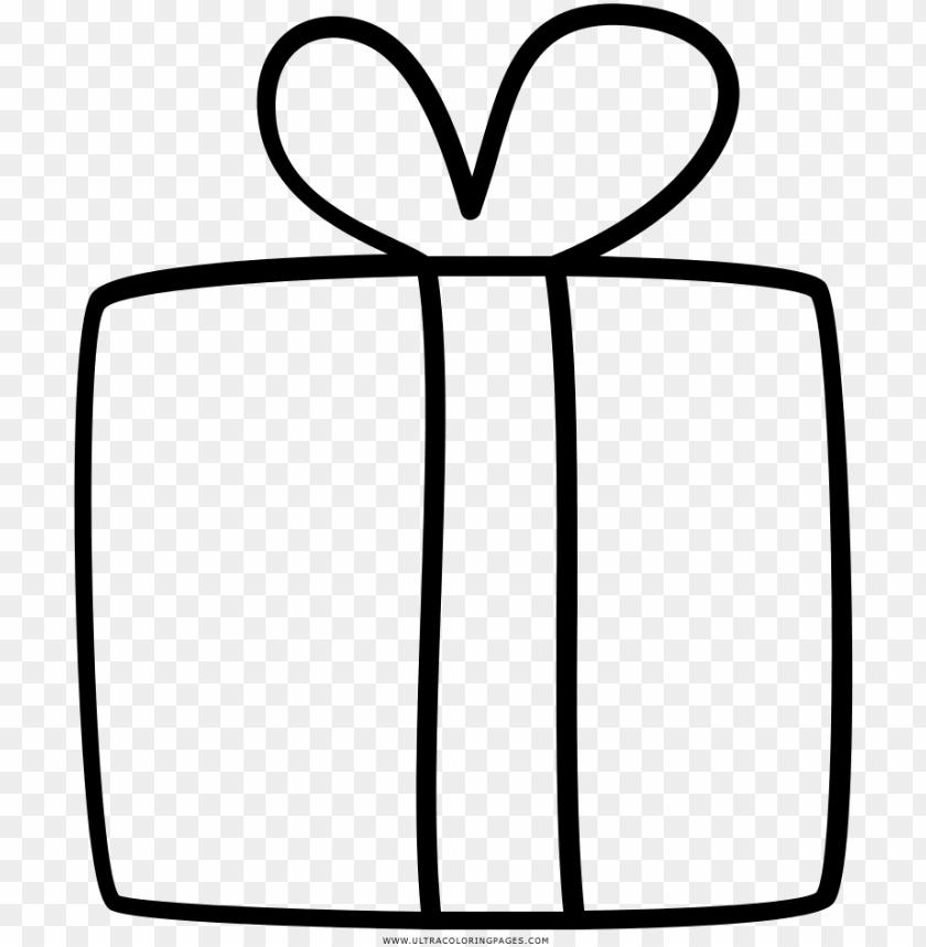 free PNG dibujo de regalo para colorear - regalo para colorear PNG image with transparent background PNG images transparent