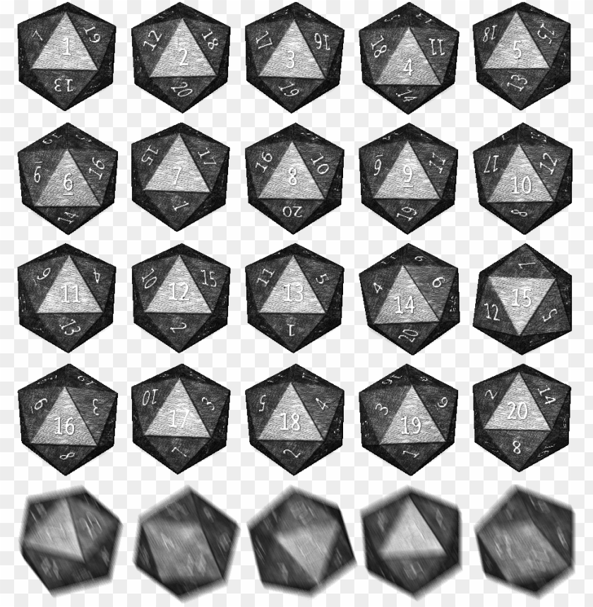 free PNG dice roll sprite - dice roll sprite sheet PNG image with transparent background PNG images transparent