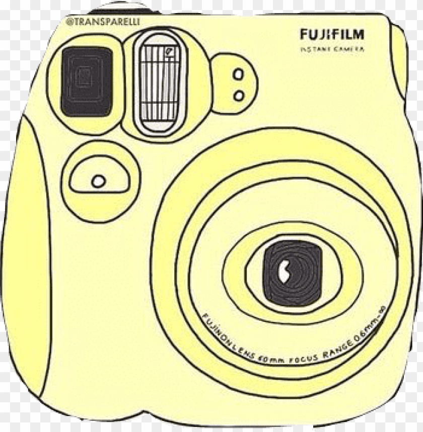 free PNG digital camera clipart polaroid camera - yellow polaroid camera PNG image with transparent background PNG images transparent