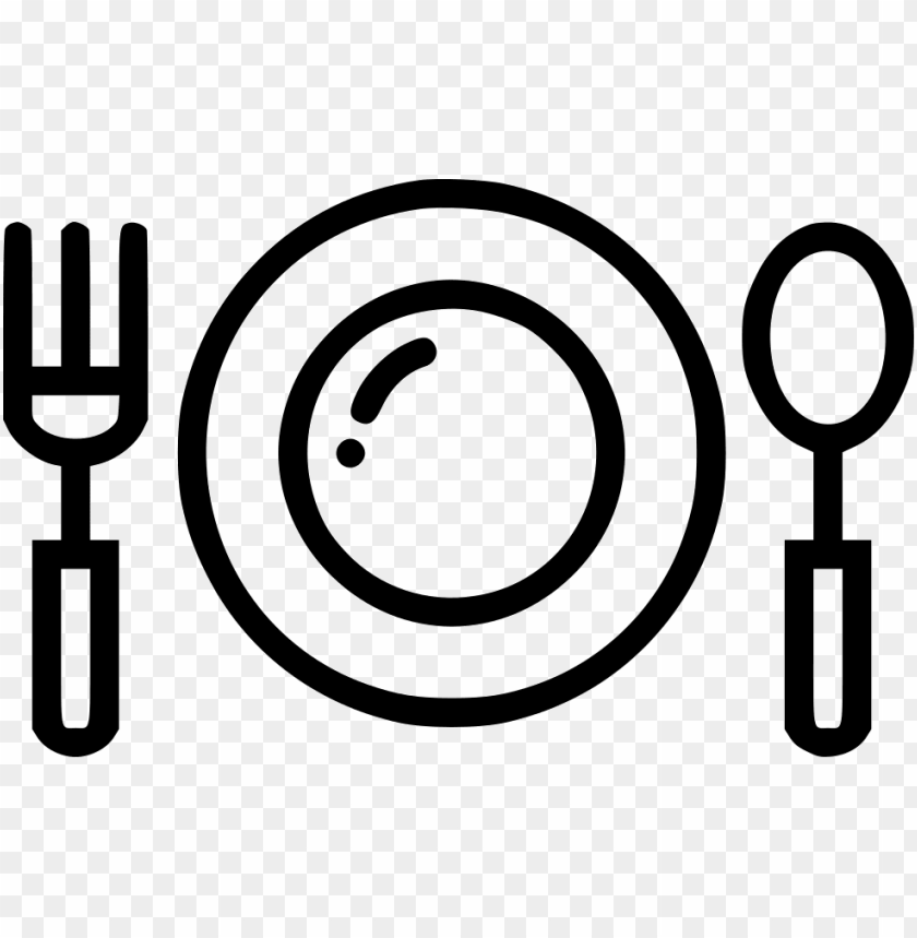 free PNG dinner plate fork spoon restaurant food eat comments - food plate icon PNG image with transparent background PNG images transparent