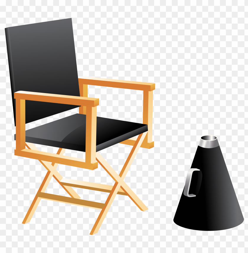 free PNG Download directors chair and megaphone clipart png photo   PNG images transparent