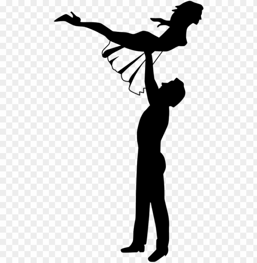 Dirty Dancing Silhouette Sticker Dirty Dancing Clipart Png Image With Transparent Background Toppng