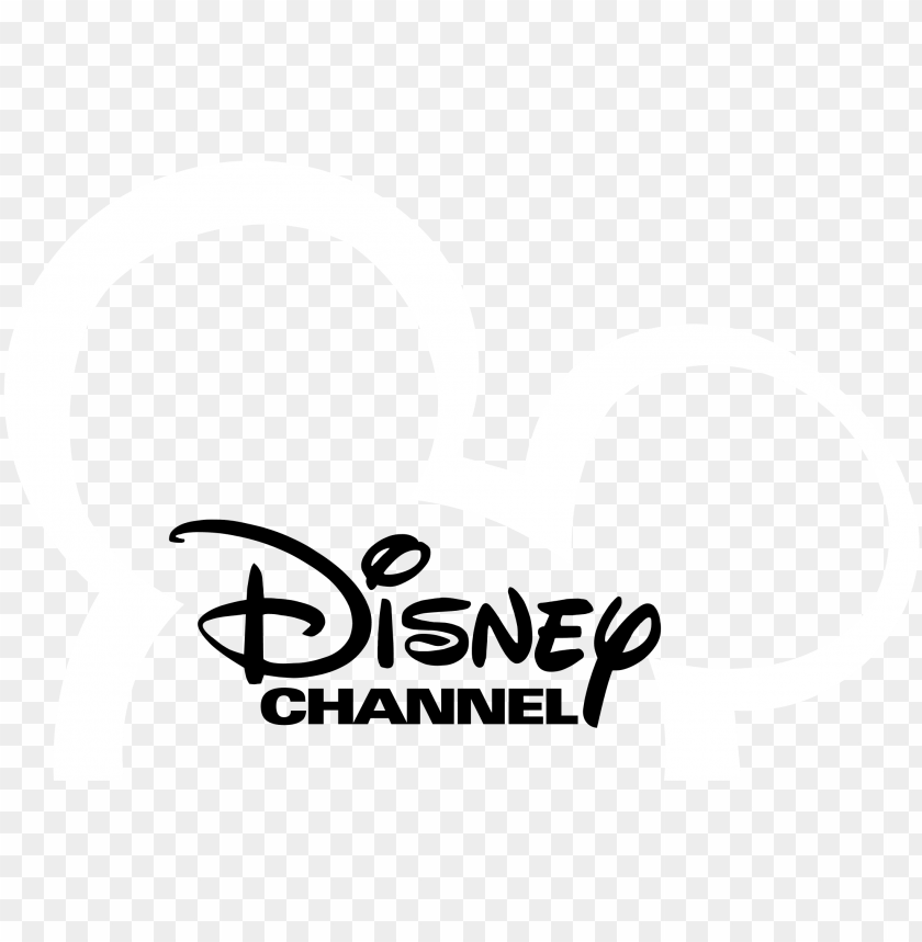 Disney Channel Logo Black And White Disney Channel Ad Png Image