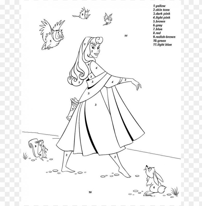Disney Color By Number Coloring Pages Png Image With Transparent Background Toppng