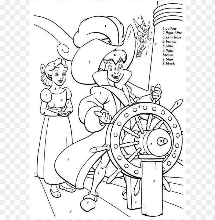 Disney Color By Number Coloring Pages Png Image With Transparent