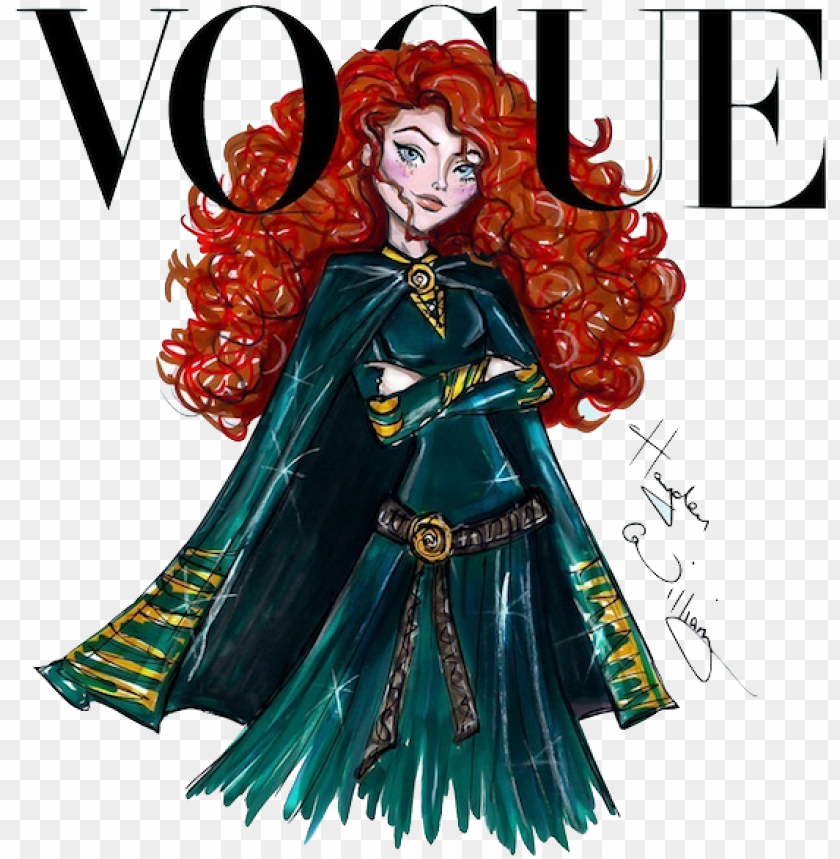 free PNG disney divas for vogue by hayden williams - vogue merida disney PNG image with transparent background PNG images transparent