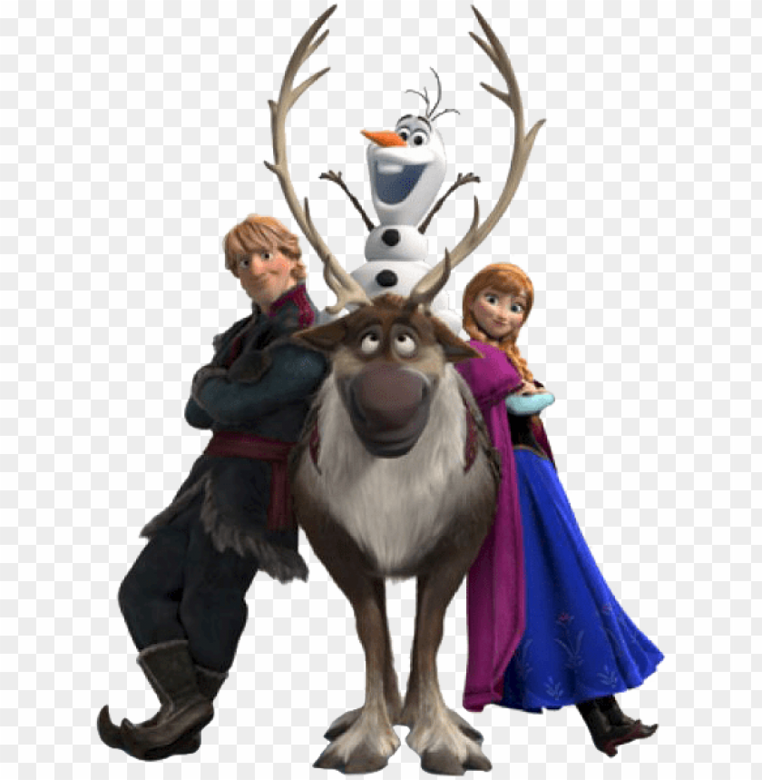 free PNG disney frozen cliparts - disney frozen sven and olaf cardboard standu PNG image with transparent background PNG images transparent