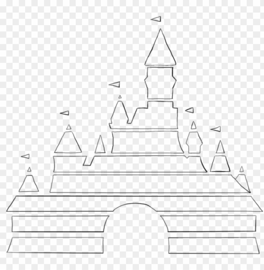Disney Logo Castle Disney Castle Outline Disney Castle Castle Disney Logo Png Image With Transparent Background Toppng