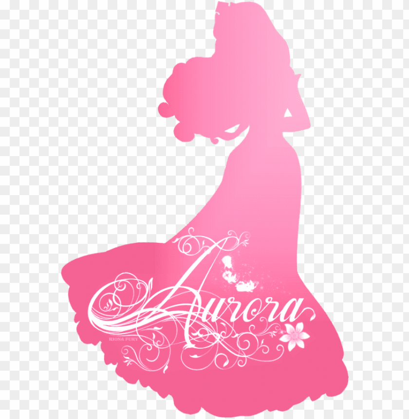 free PNG disney princess photo - disney princess silhouette aurora PNG image with transparent background PNG images transparent