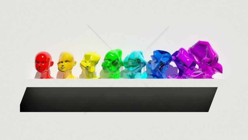 free PNG diversity, figure, figurines, multi-colored, shelf wallpaper background best stock photos PNG images transparent