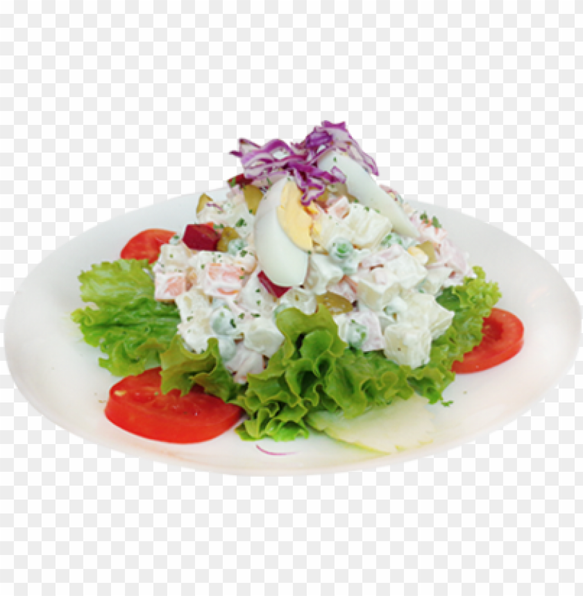 free PNG dn russian salad - russian salad in plate PNG image with transparent background PNG images transparent