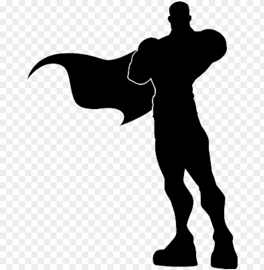 Silhouette Superhero Png