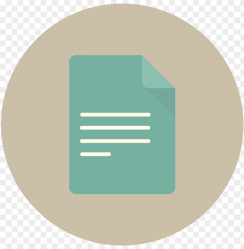 document documents email letter mail page paper icon - paper icon circle png - Free PNG Images@toppng.com
