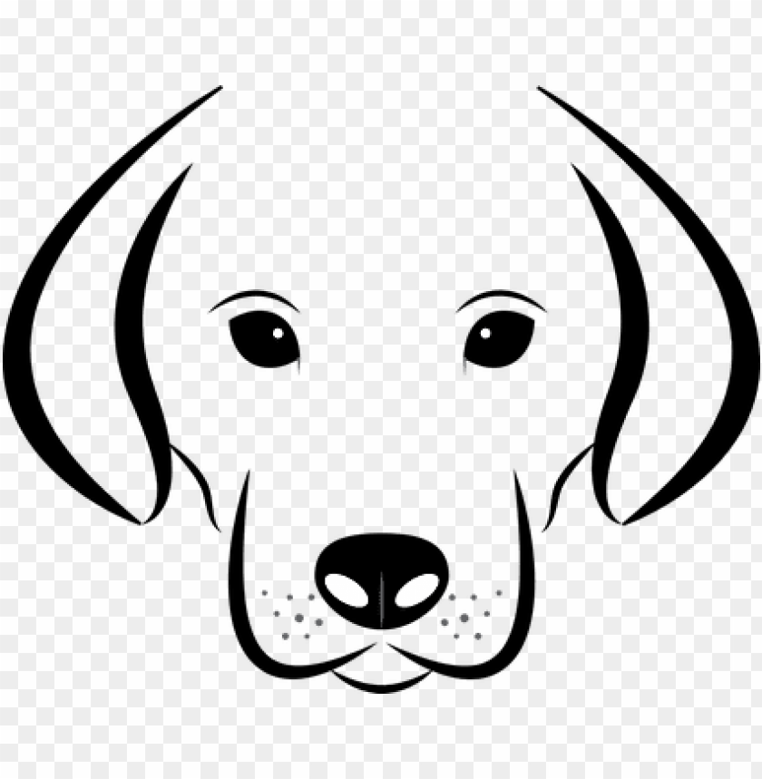 Dog Head White Background Labrador Animal Dog Face Clipart Black