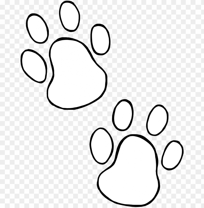 free PNG dog paw prints dog paw heart clip art free clipart - white dog paw silhouette PNG image with transparent background PNG images transparent