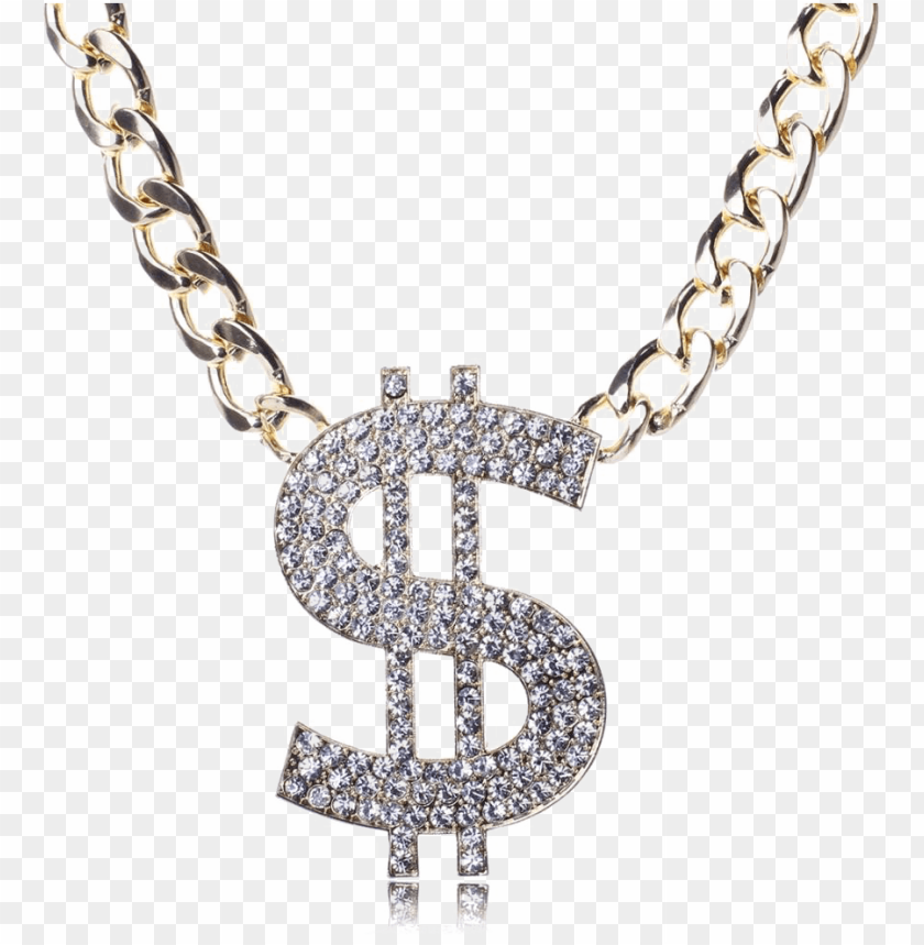 free PNG dollar chain png clip art transparent library - gold chain dollar PNG image with transparent background PNG images transparent