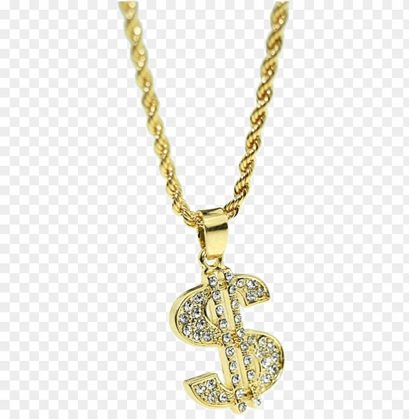 free PNG dollar chain png - gold dollar chain PNG image with transparent background PNG images transparent