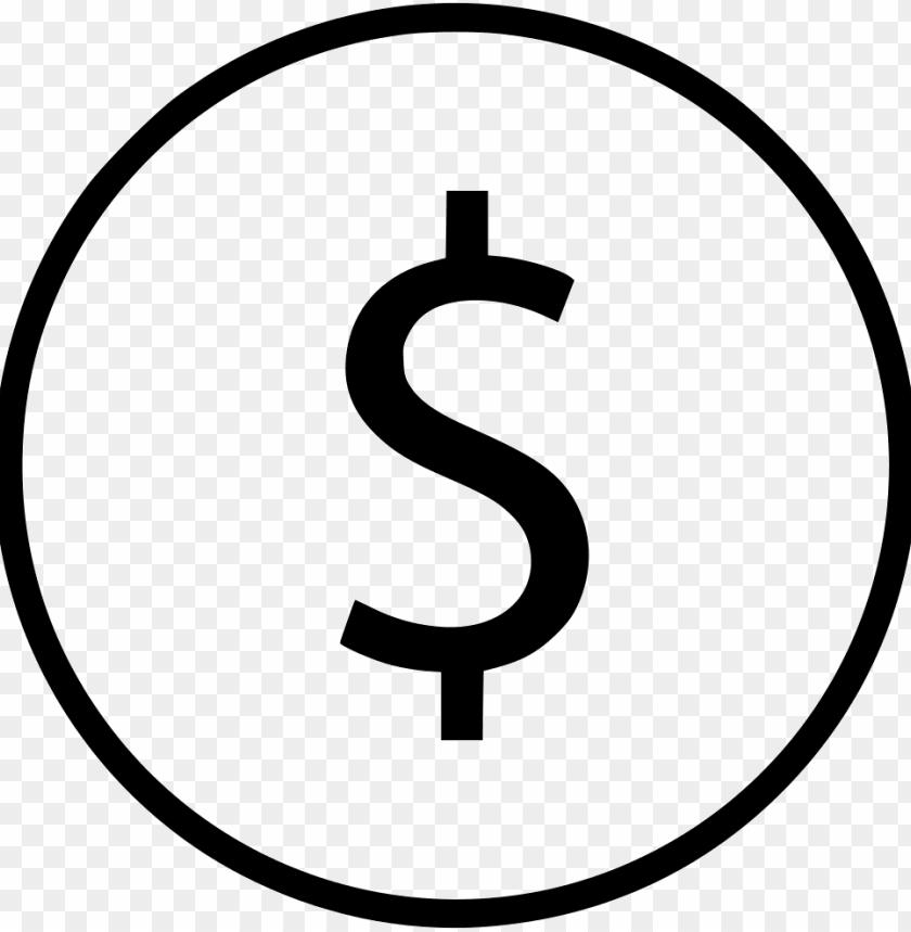 free PNG dollar sign circle svg  icon free- dollar sign svg icon png - Free PNG Images PNG images transparent