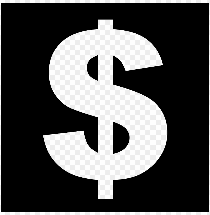 free PNG dollar sign icon  white PNG image with transparent background PNG images transparent