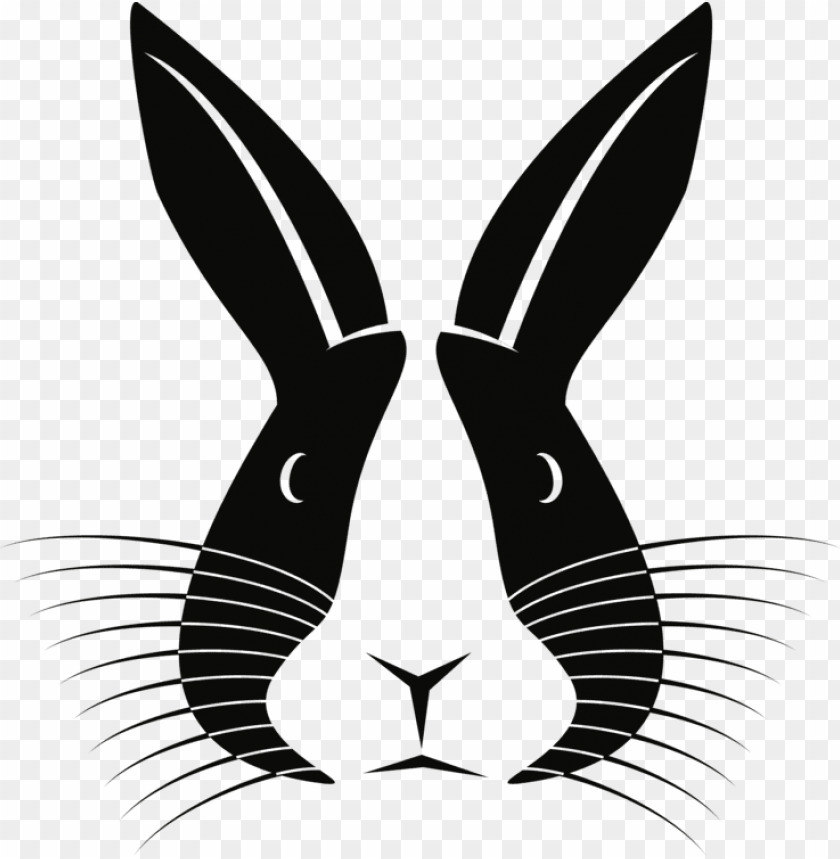 free PNG domestic rabbit hare european rabbit silhouette - silhouette rabbit PNG image with transparent background PNG images transparent