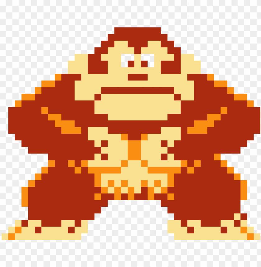 Donkey Kong Donkey Kong Pixel Art Minecraft Png Image With