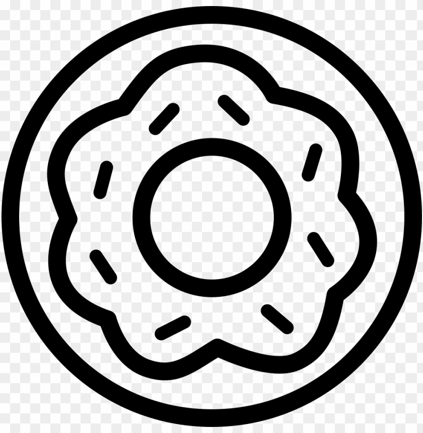 free PNG donut sweet dessert with a flower shape in the circle - donut sweet dessert with a flower shape in the circle PNG image with transparent background PNG images transparent