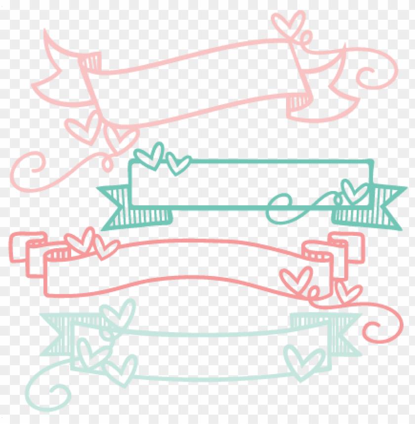 free PNG doodle banners svg scrapbook cut file cute clipart - cute banner png transparent PNG image with transparent background PNG images transparent