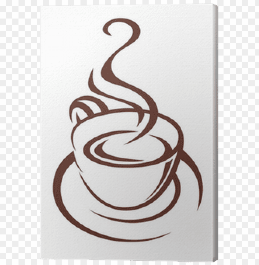 free PNG doodle sketch of a steaming cup of coffee canvas print - coffee cup with steam PNG image with transparent background PNG images transparent