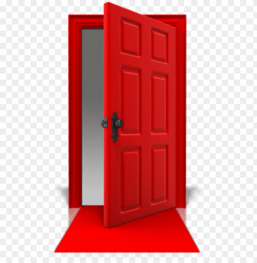 free PNG door open png - red door open PNG image with transparent background PNG images transparent