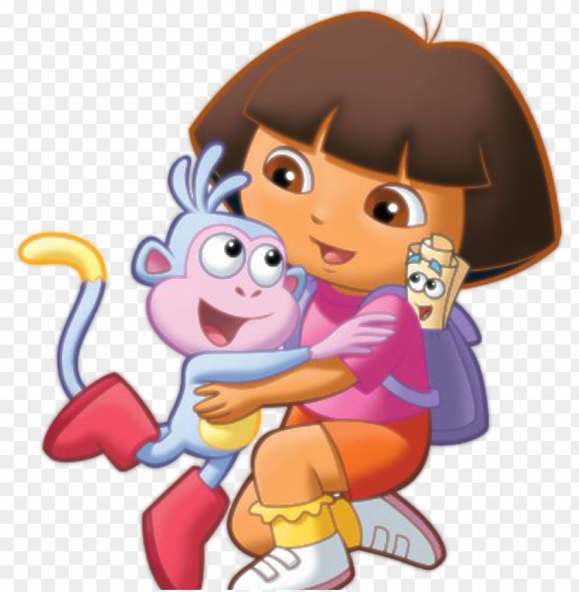 dora the explorer with boots , dora and boots hu PNG image