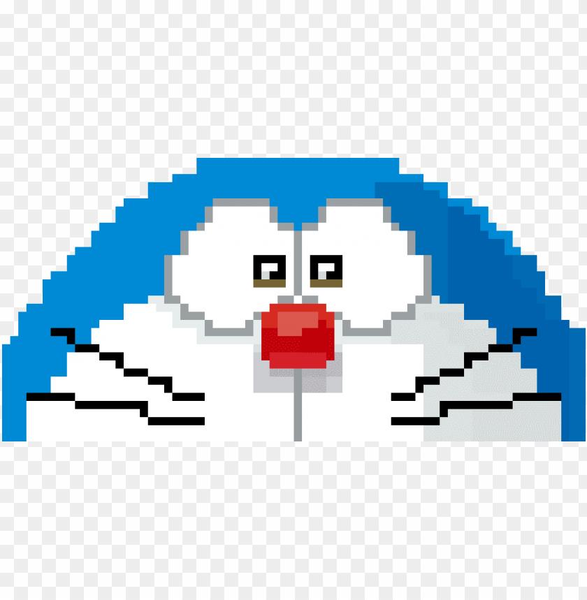 free PNG doraemon - make pixel art doraemo PNG image with transparent background PNG images transparent