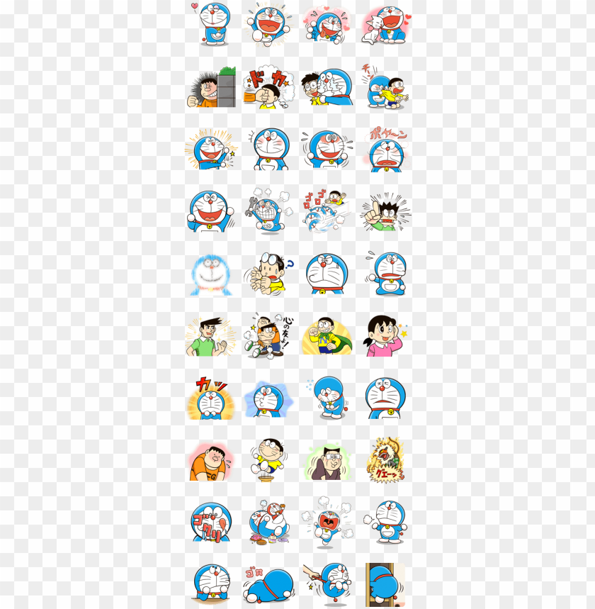 free PNG doraemon's many emotions - pokemon chat pals stickers PNG image with transparent background PNG images transparent