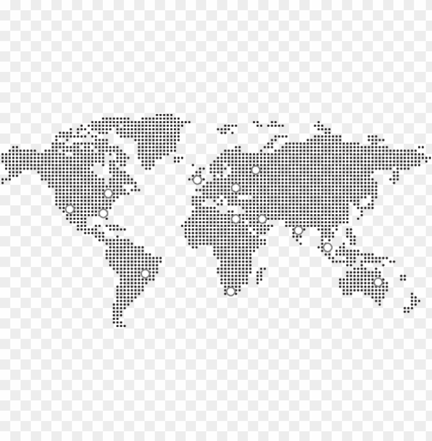 dotted world map icon PNG image with transparent background ...