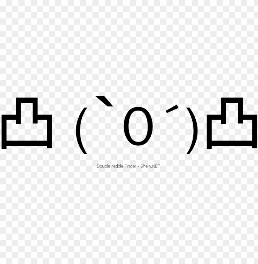 free PNG double middle finger text emoticon - text art middle finger PNG image with transparent background PNG images transparent