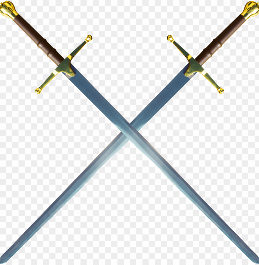 free PNG double william wallace sword - double gold sword PNG image with transparent background PNG images transparent