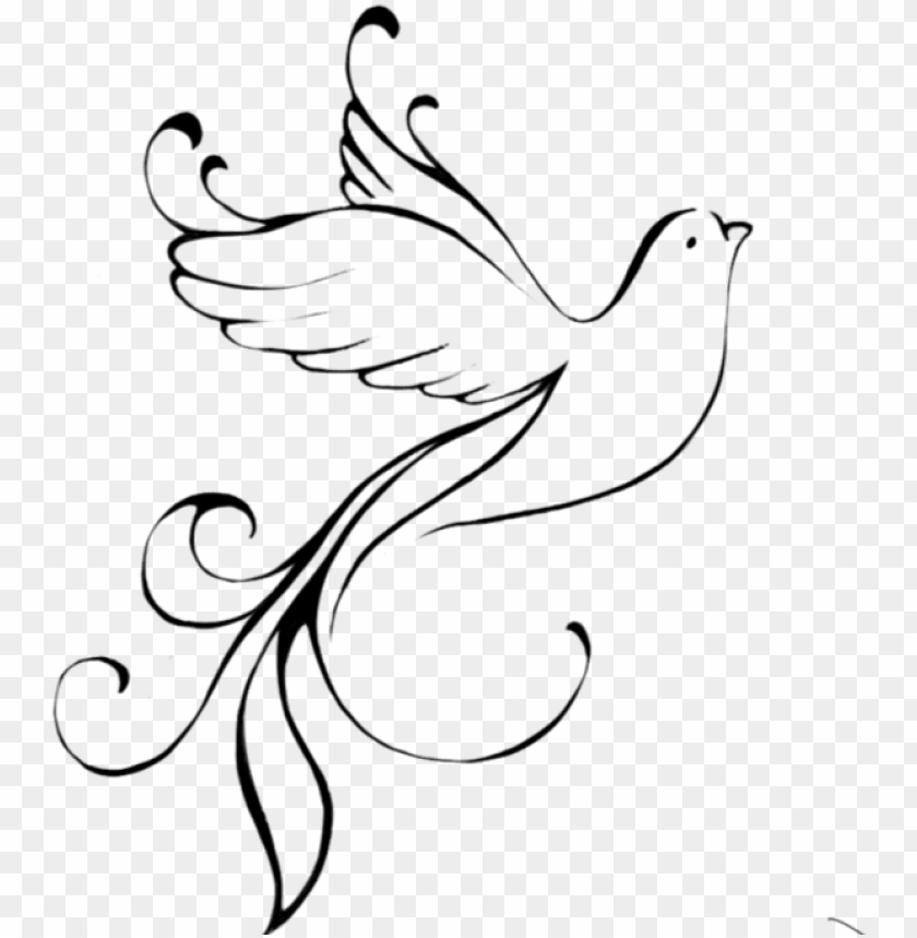 free PNG dove outline png - tribal dove PNG image with transparent background PNG images transparent