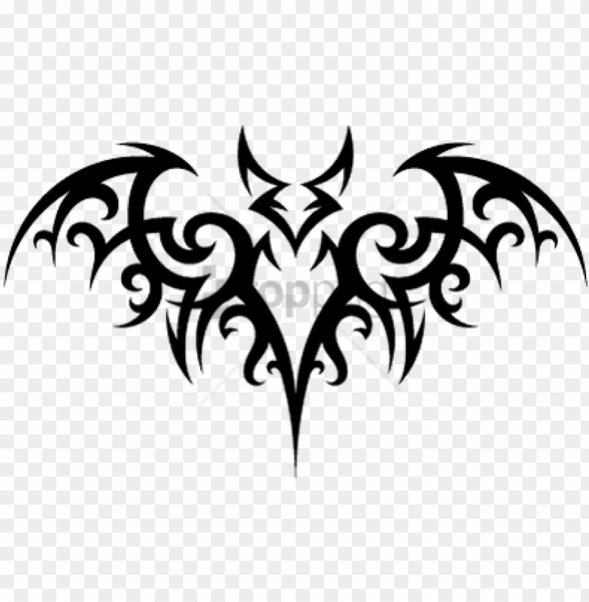 free PNG download bat tattoo png images background toppng - tribal bat tattoo PNG image with transparent background PNG images transparent