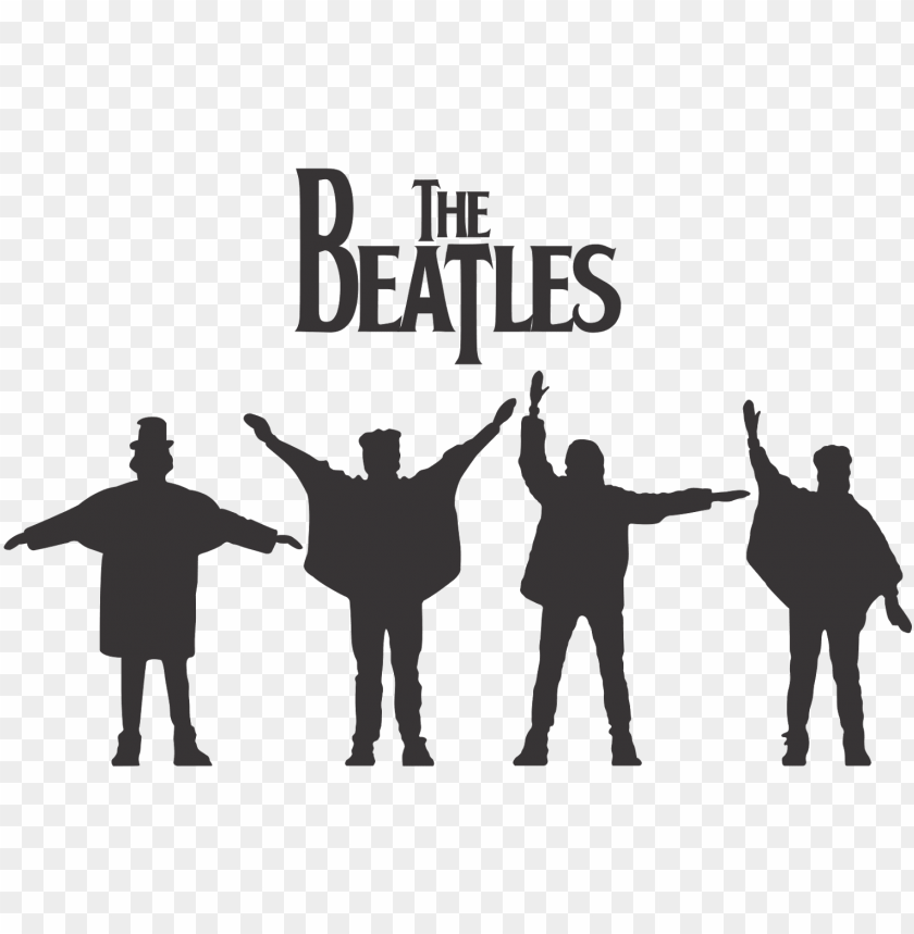 free PNG download - beatles silhouette PNG image with transparent background PNG images transparent
