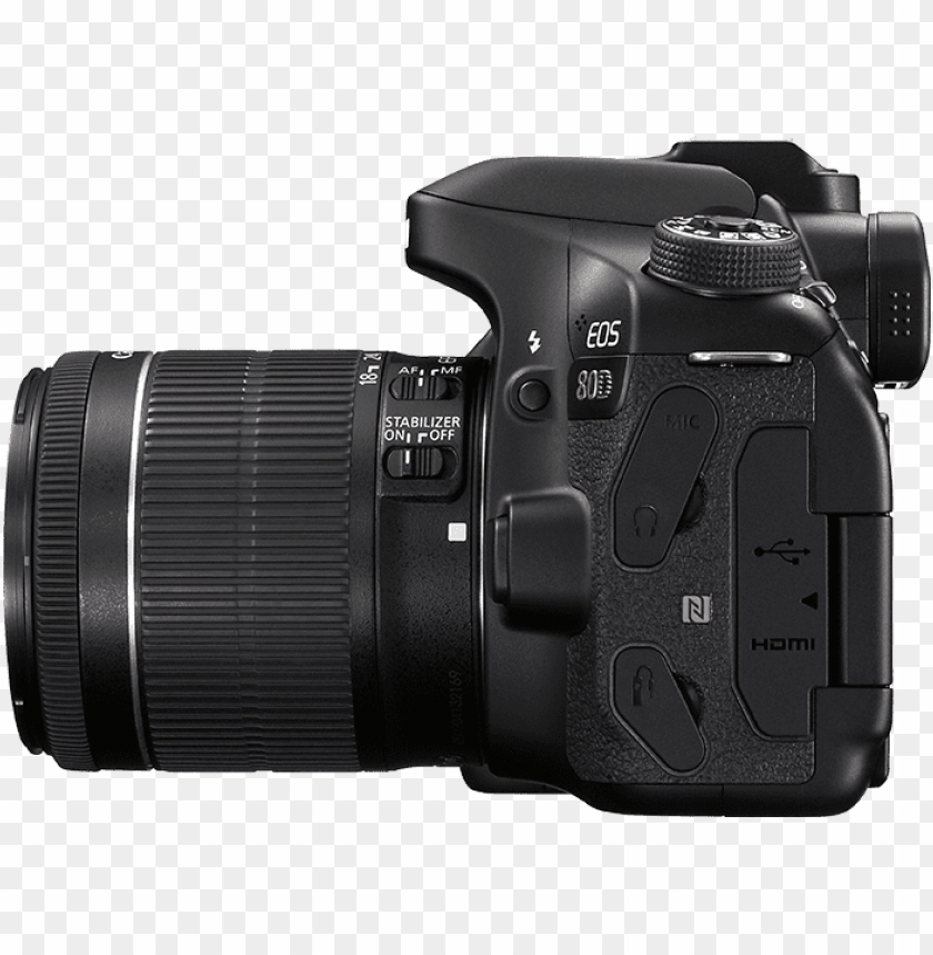 free PNG download canon 80d dslr camera png transparent images - canon eos 80d 18 55mm PNG image with transparent background PNG images transparent