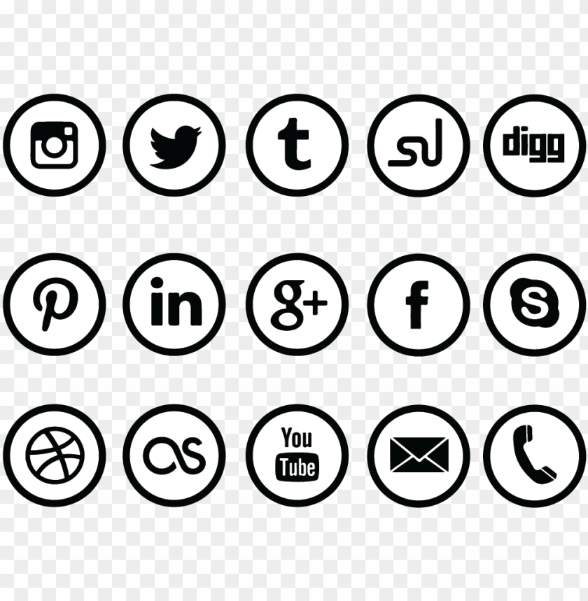 free PNG download circle social media icon set - transparent circle social media icons PNG image with transparent background PNG images transparent