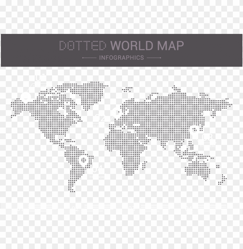 free PNG download dotted world map vector - dotted world map PNG image with transparent background PNG images transparent
