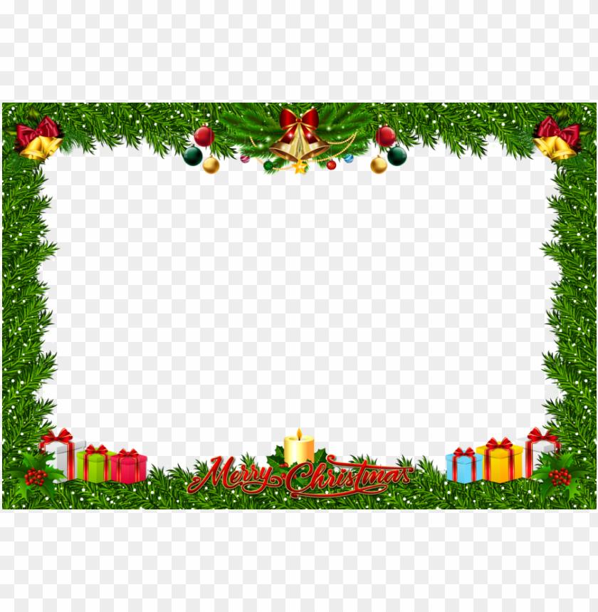 free PNG download fchristmas frame art png clipart santa claus - christmas photo frames clip art PNG image with transparent background PNG images transparent