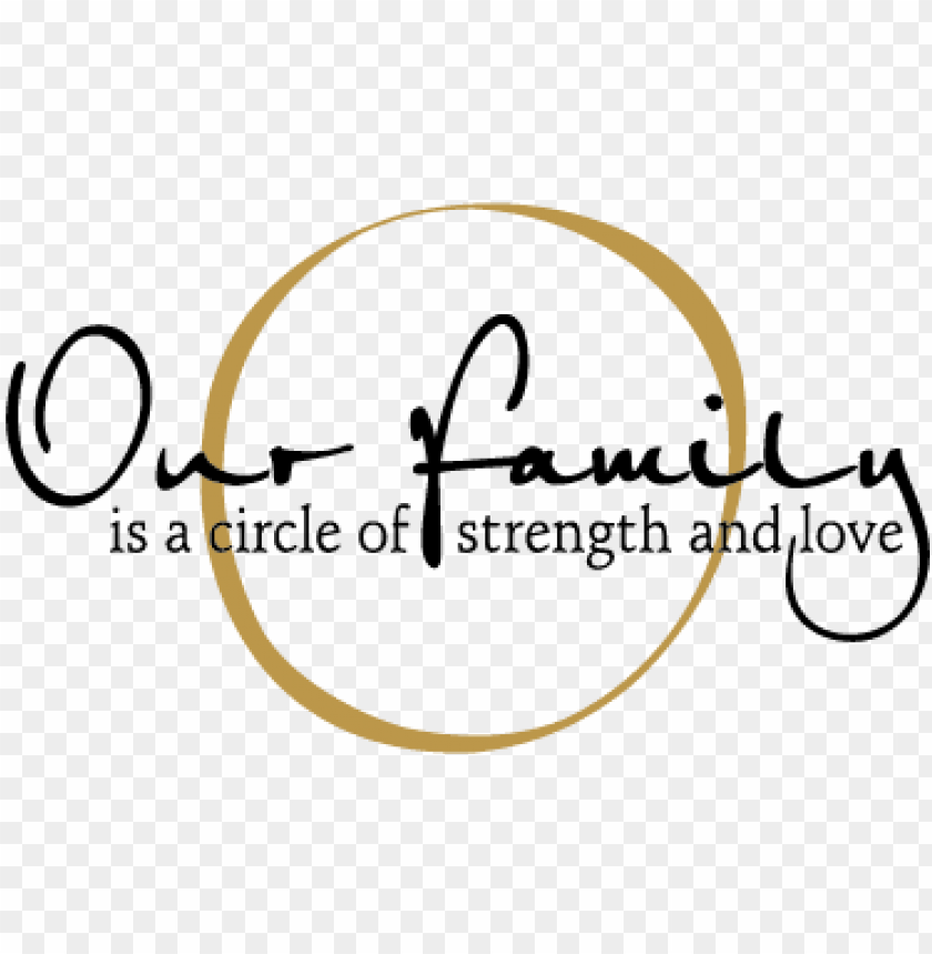 quotes family a circle of strength and love png