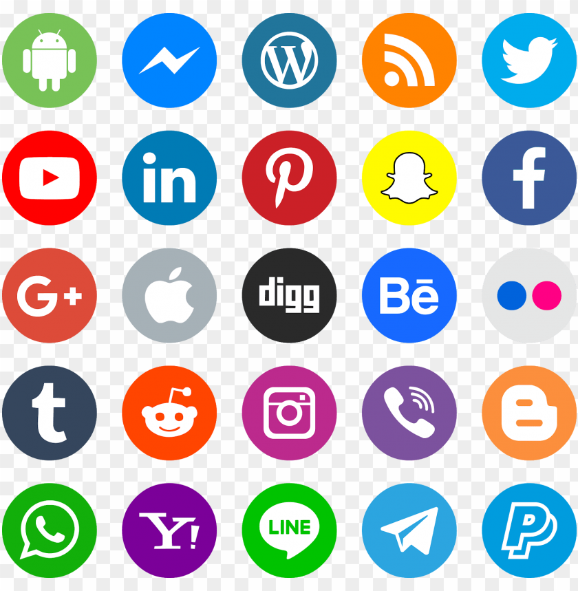 free PNG download icons social media svg eps png psd ai vector - high resolution social media icon vector PNG image with transparent background PNG images transparent