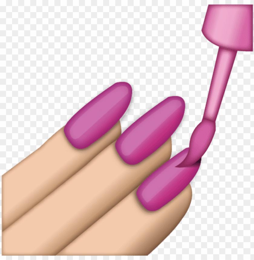 free PNG download pink nail polish emoji icon - nail polish emoji PNG image with transparent background PNG images transparent