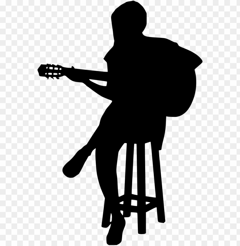 free PNG download png - acoustic guitar silhouette PNG image with transparent background PNG images transparent