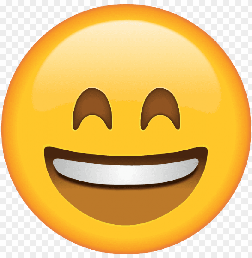 free PNG download smiling face with tightly closed eyes icon - smiling emoji PNG image with transparent background PNG images transparent