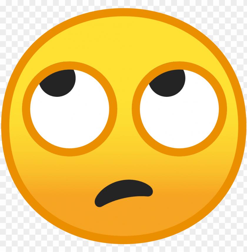 download svg download png - rolling eyes emoji PNG image with transparent background | TOPpng